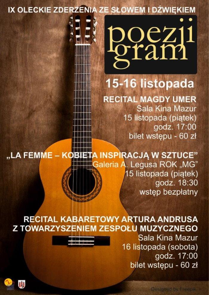 15-16 listopada - Poezji Gram - IX Oleckie Zderzenia Ze Słowem i Dźwiękiem