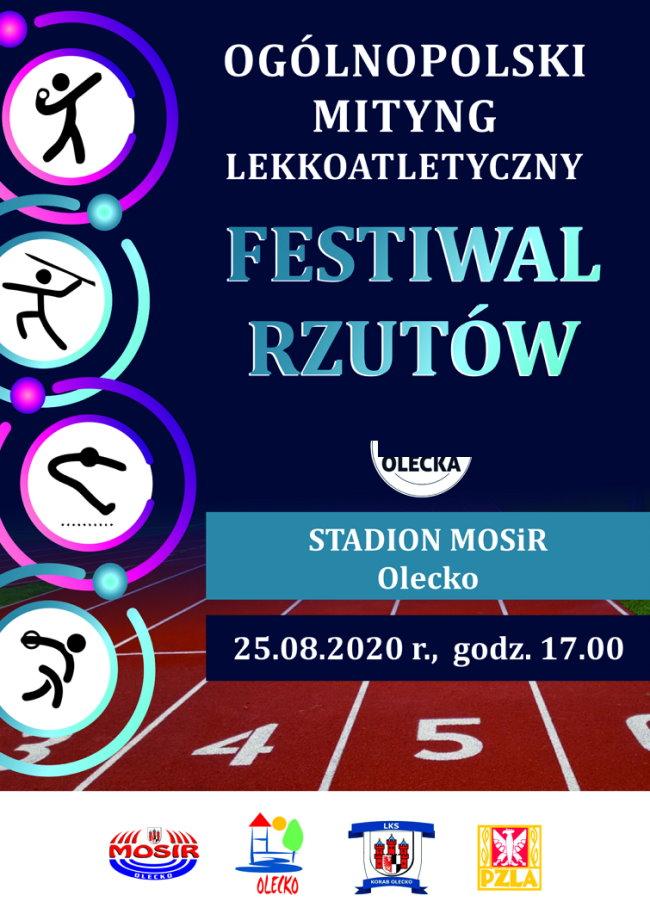 Ogólnopolski Miting Lekkoatletyczny  - festiwal rzutów na 460 lat Olecka